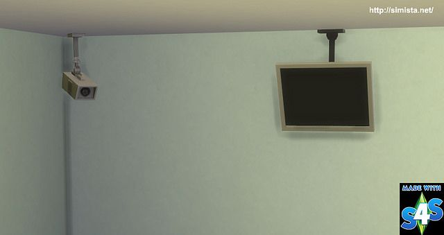 Ceiling Mounted TV and Security Camera Request at Simista via Sims 4 Updates