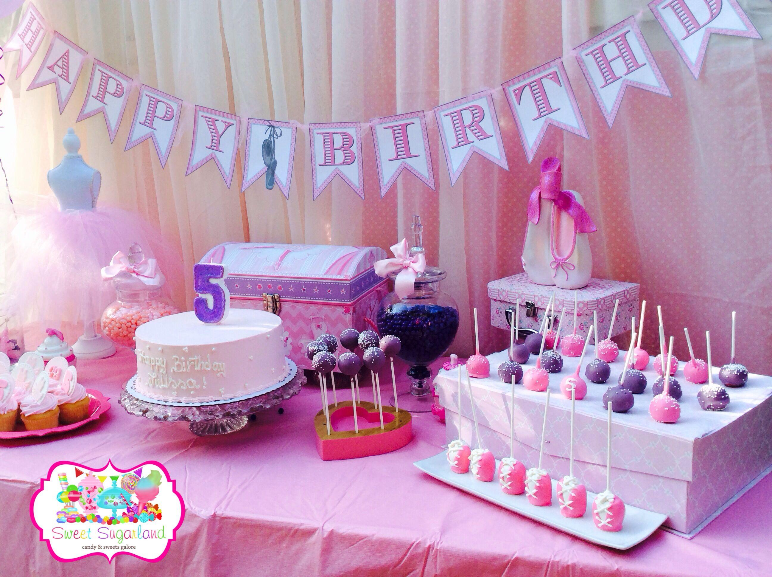 ballerina theme candy buffet dessert table by www sweetsugarland rh pinterest com
