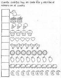 trabajos de matematicas para niños de preescolar - Buscar con Google ...