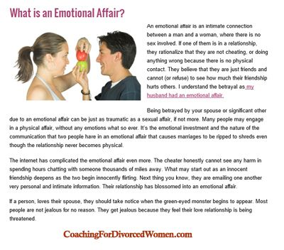 Woman emotional affair