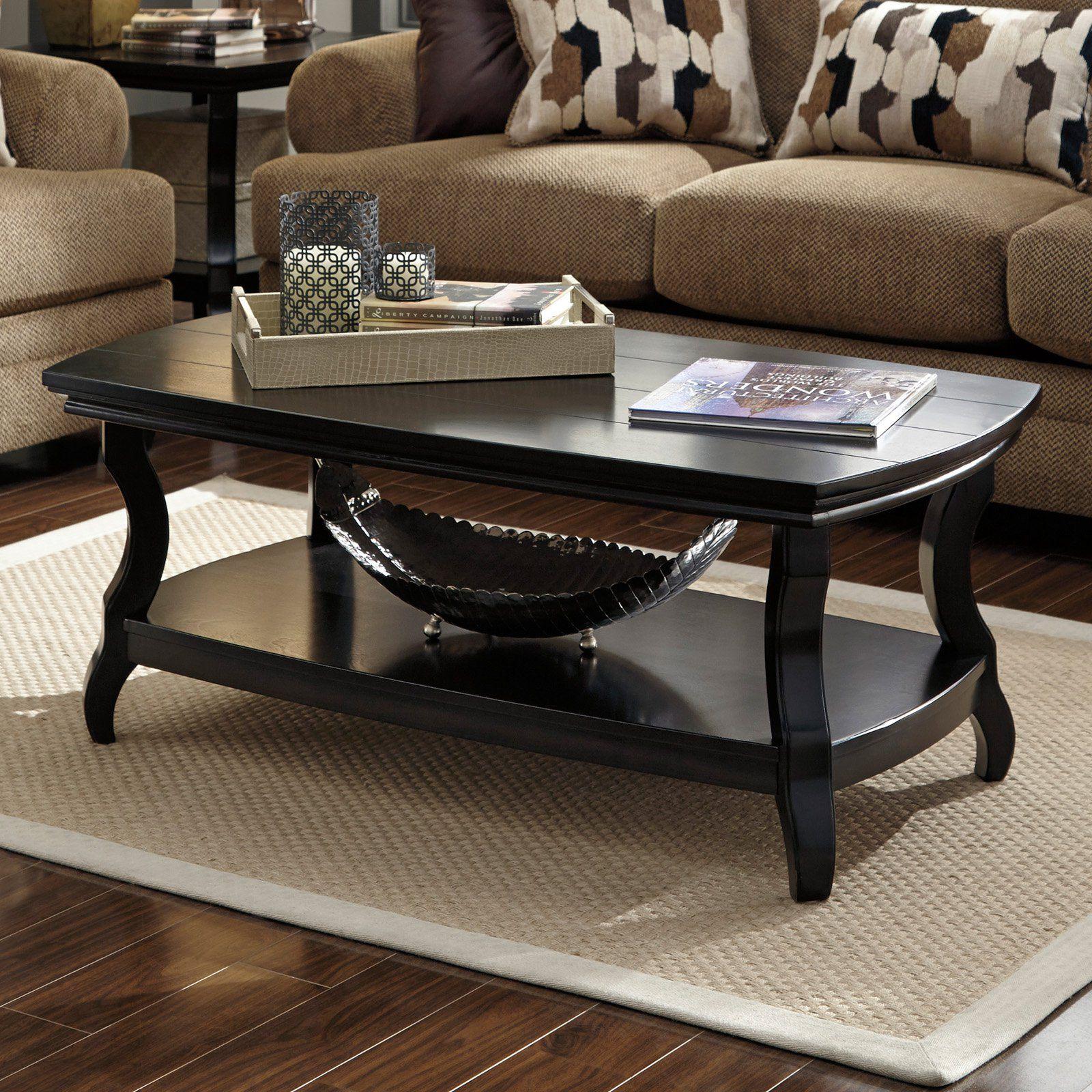 Signature Design By Ashley Tellbane Black Rectangular Cocktail Table Www Hayneedle Com Coffee Table Rectangular Coffee Table Black Coffee Tables [ 1600 x 1600 Pixel ]