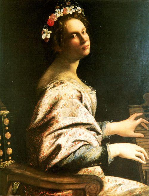 Self Portrait As Saint Cecilia 1620 Artemisia Gentileschi At