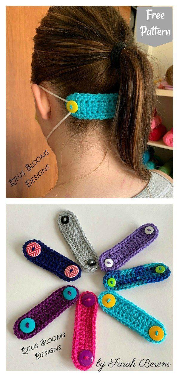 8 Face Mask Ear Savers Free Crochet Pattern - Page 2 of 2 #Crochet #Ear #Face #Face Mask Ear Savers Free Knitting Pattern #Free #Mask #Page #Pattern #Savers