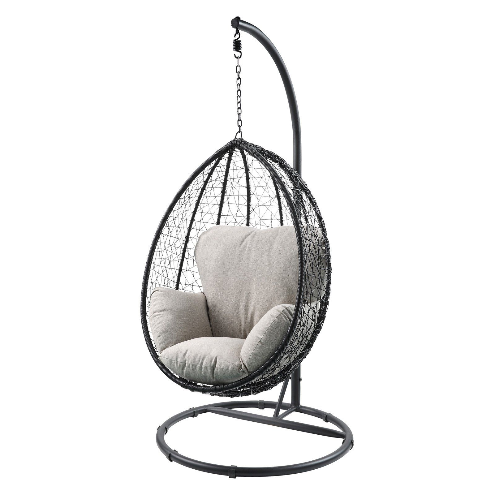 Cool Acme Furniture Simona Black Wicker Outdoor Hanging Egg Chair Squirreltailoven Fun Painted Chair Ideas Images Squirreltailovenorg
