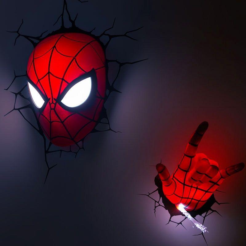 Lighting wall lights marvel 3d nightlight spiderman hand with 3d lighting wall lights marvel 3d nightlight spiderman hand aloadofball Images