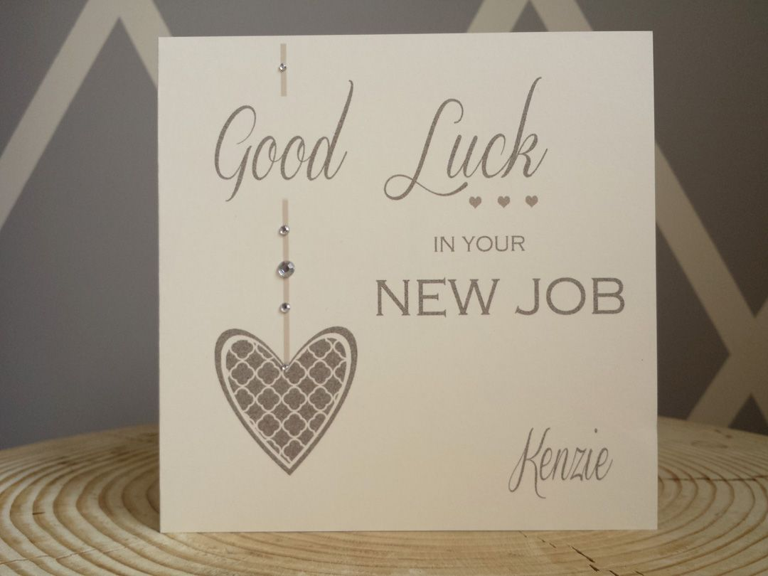 Personalised Good Luck In Your New Job Embellished Drop