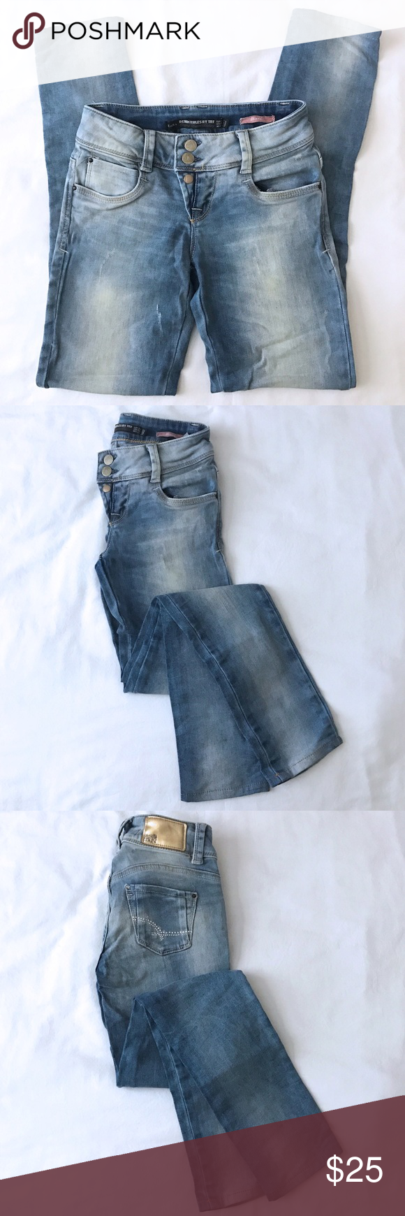 ZARA TRF Washed Blue Skinny Denim Jeans 24/02 Thank you very much for looking!! ◆◇◆◇◆◇◆◇◆◇◆◇◆◇◆◇◆◇◆◇  Zara Denim Rules by TRF Skinny  ★Brand/Zara TRF  ★Condition/Good  ★Size/24/02 7in Rise 29in Inseam  ★Color/Washed  ★Material/Cotton 98%, Elastane 2%  ★Weight/1lb 5oz  ★Two front pockets.  ★Two rear pockets.  ★Smoke free home:)  ◆◇◆◇◆◇◆◇◆◇◆◇◆◇◆◇◆◇◆◇ Be sure to check out my other listings!! Zara Jeans Skinny