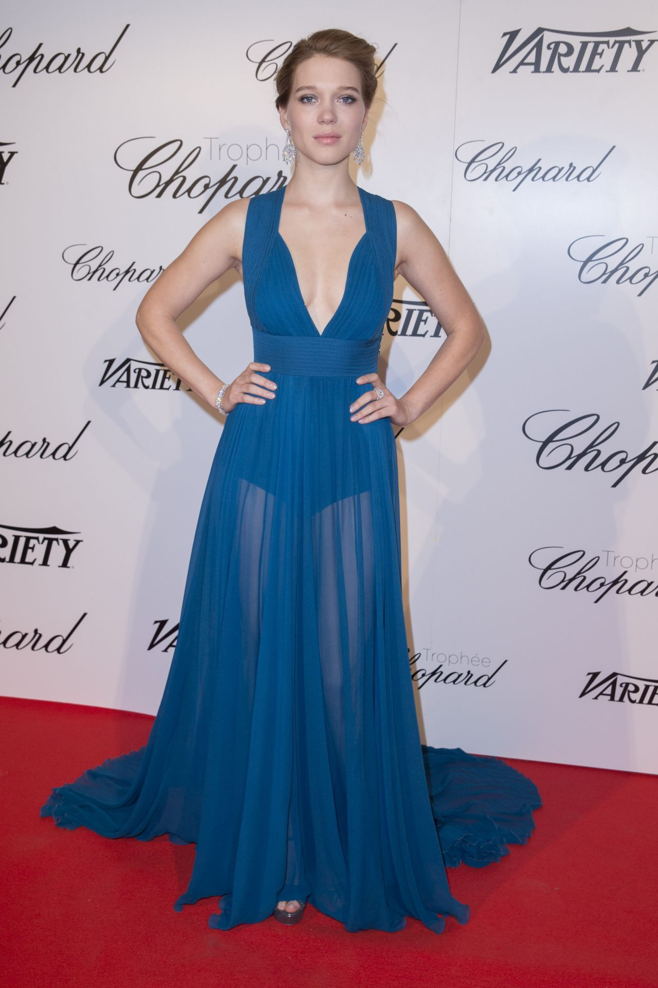 73f4e9c6e Léa Seydoux in ELIE SAAB Spring 2015 – Chopard Trophy Party in Cannes