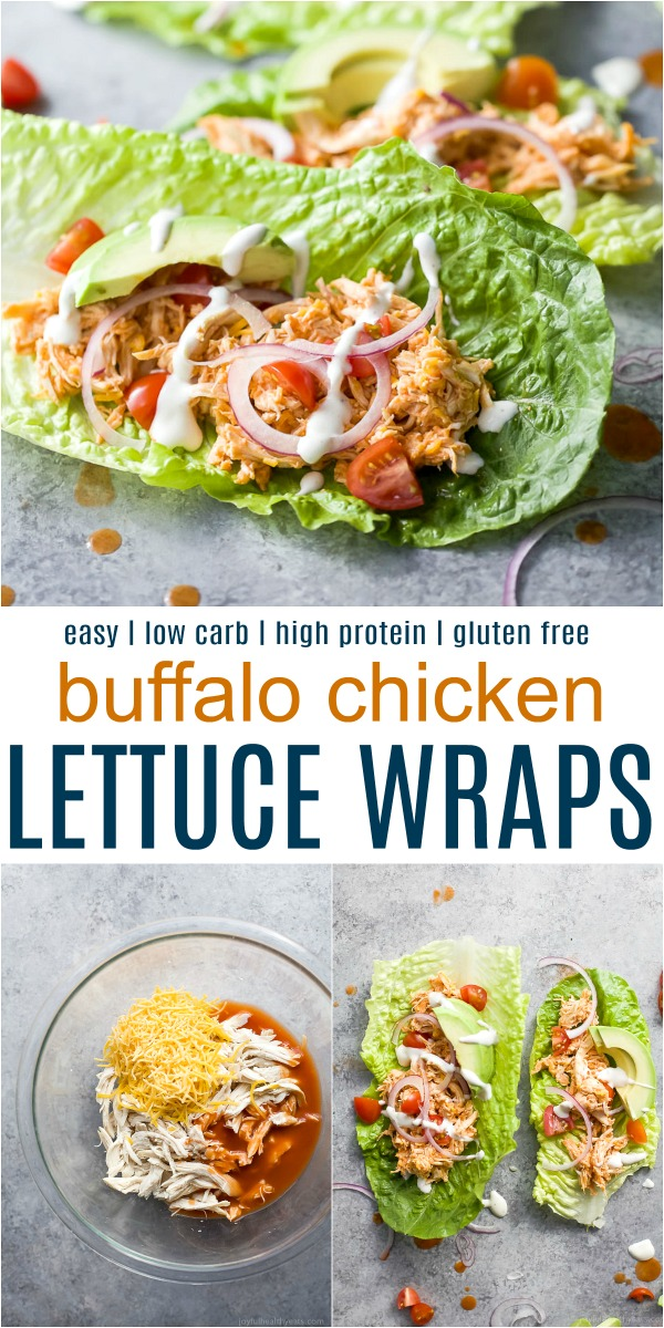 Easy Low Carb Buffalo Chicken Lettuce Wraps | Chicken Dinner Idea