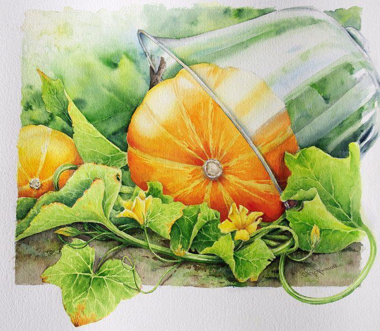 aquarelle composition   Fruits aquarelle, Aquarelle, Aquarelle facile