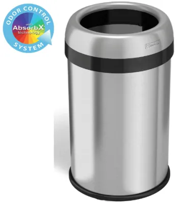 Open Top Trash Can Reviews Trash Can Reviews Trash Can Kitchen Trash Cans Recycling Bins