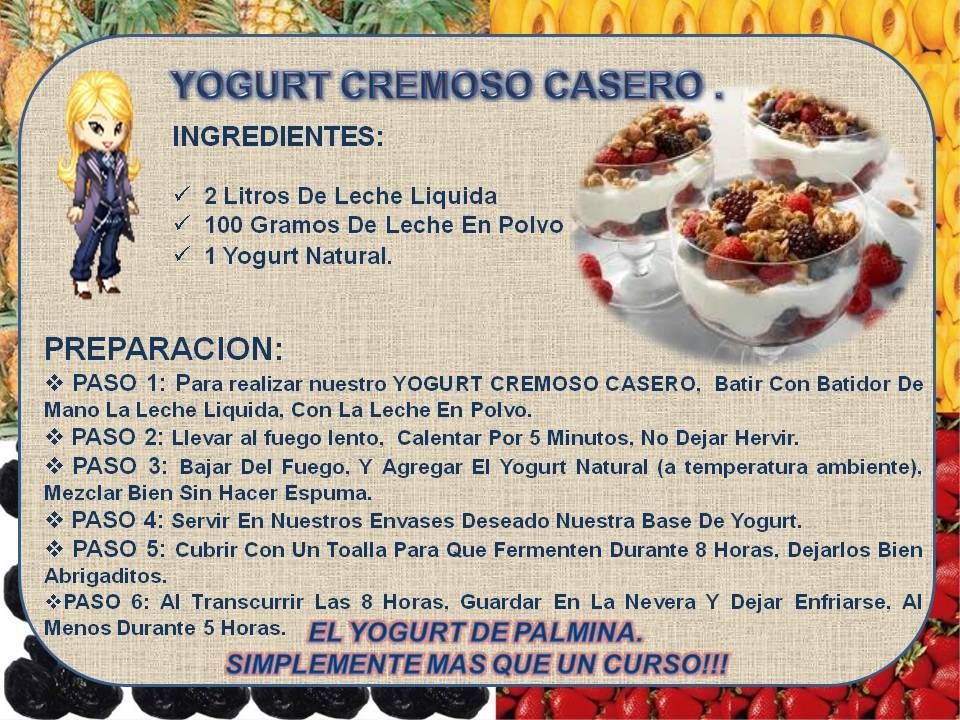 Yogurt cremoso casero postres pinterest yogurt for Ingredientes para cocinar