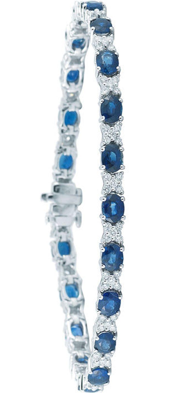 Costco Diamond Bracelet : costco, diamond, bracelet, Sapphire, Diamond, White, Bracelet, Bracelet,, Jewelry, Inspiration,