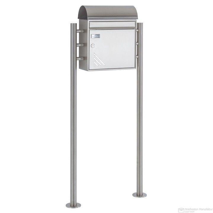 Edelstahl Standbriefkasten mit Max Knobloch Memphis Vertigo Design BML Briefkasten + Zeitungsfach
