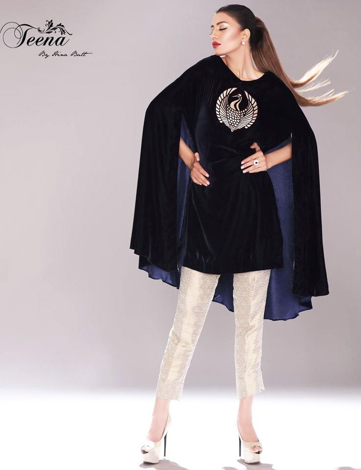 9cfcb43876 Latest Pakistani Cape Style Dresses 2017-2018 Designer Collection |  BestStylo.com