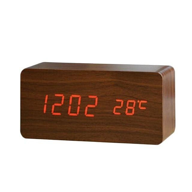 Promotion price New Mini Voice Control Wooden Clock Electronic Digital Clock LED Alarm Clock Multifunctional Time Date Temperature Display Clock just only $13.03 - 13.20 with free shipping worldwide  #clocks Plese click on picture to see our special price for you