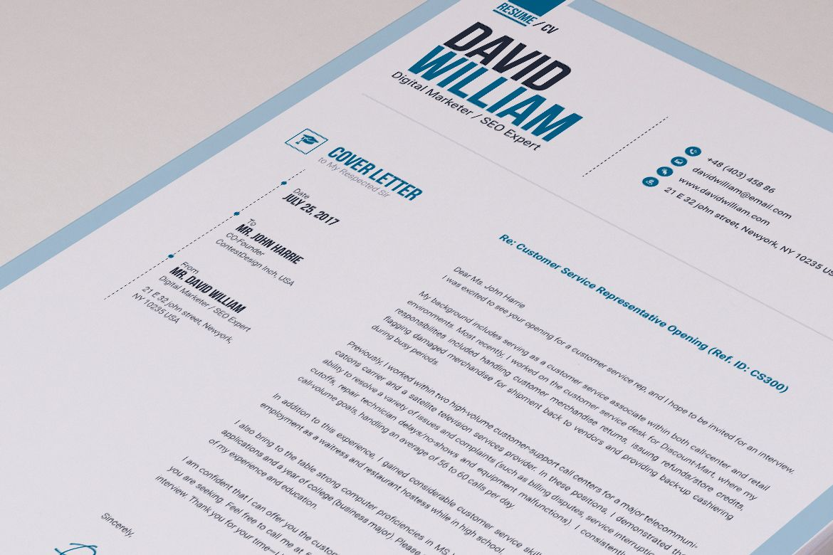 Job / CV Builder with ms word Resume Template 66172 Job