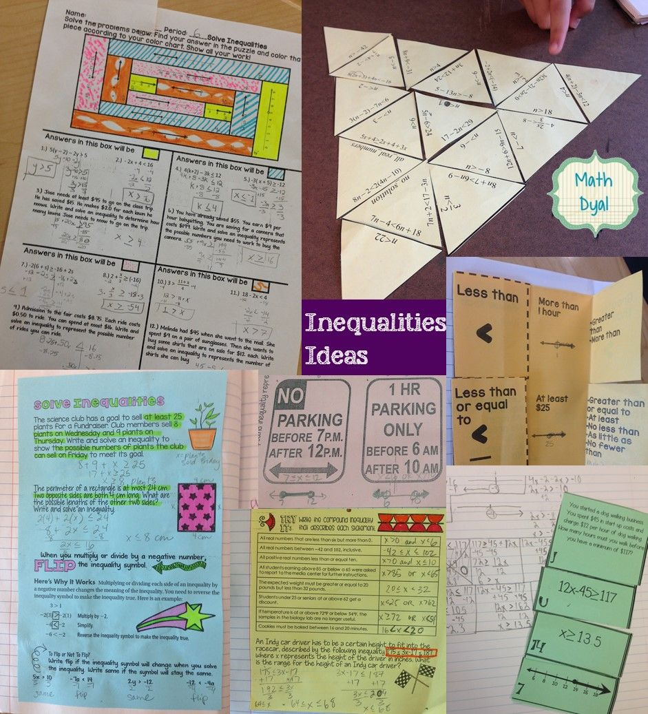 Engaging ideas for teaching solving inequalities in high