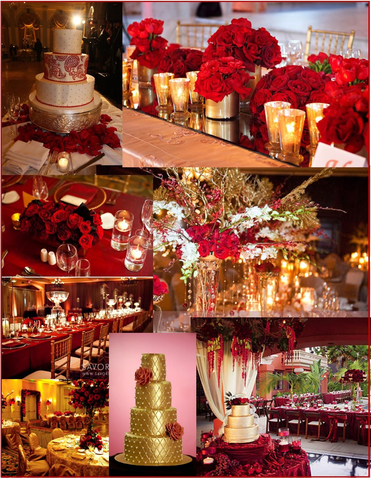 Red And Gold Wedding Event Ideas