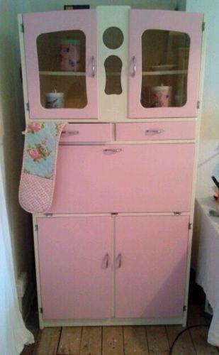 1950u0027s Vintage Kitchenette Kitchen Larder Unit Cabinet Rockabilly