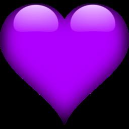 Heart 2 Purple Icon Love Heart Emoji Love Heart Images Heart Wallpaper