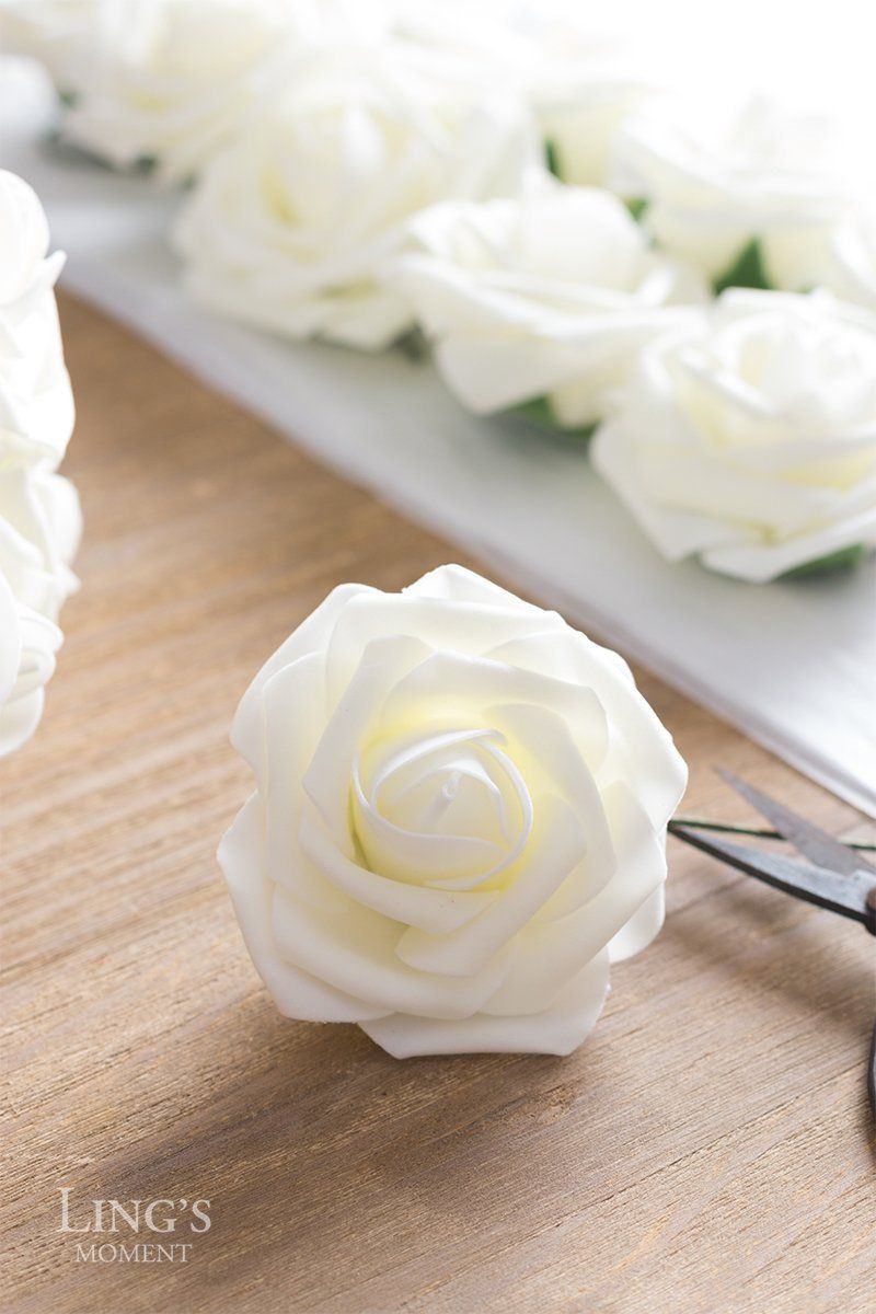 2750 pieces some dece fake flowers foam roses diy