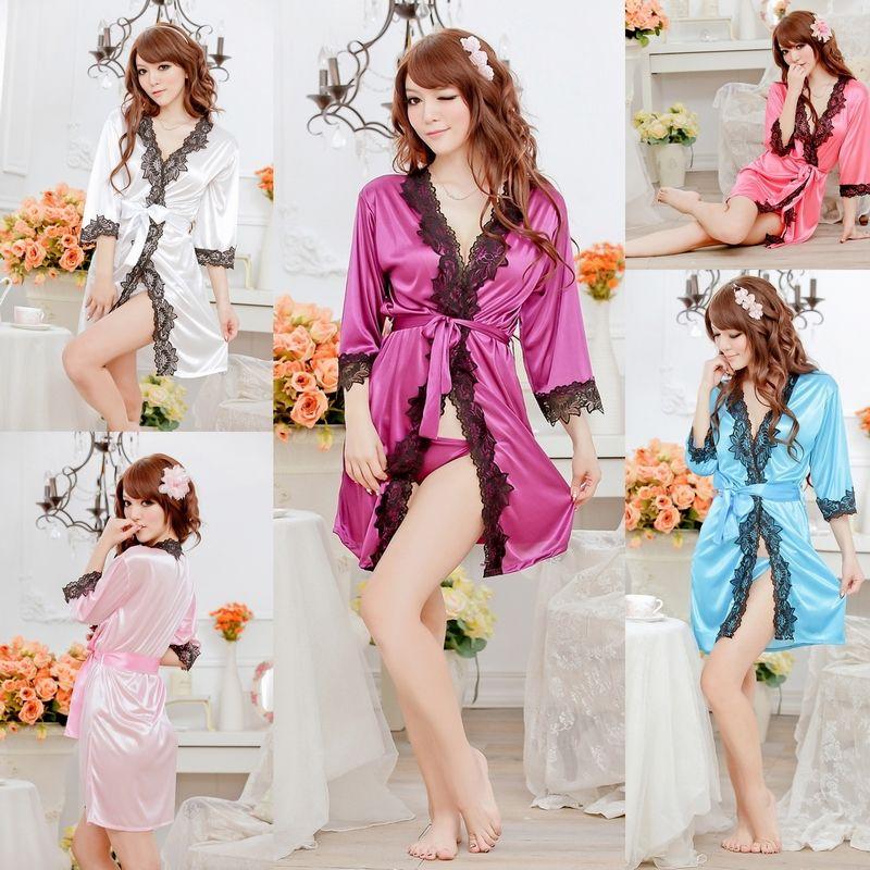 8251091d27 Rayón mujer sexy babydoll ropa interior ropa interior ropa de dormir  intimates vestido de ropa de dormir + t de nuevo conjunto vestido de la  tentación batas ...