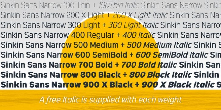 Sinkin Sans Narrow font download