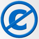 Blue Copyright Letter C Crossed Out With A Blue Circle And Line Which Is The Uncopyright Symbol Lettering British Leyland Logo Letter C