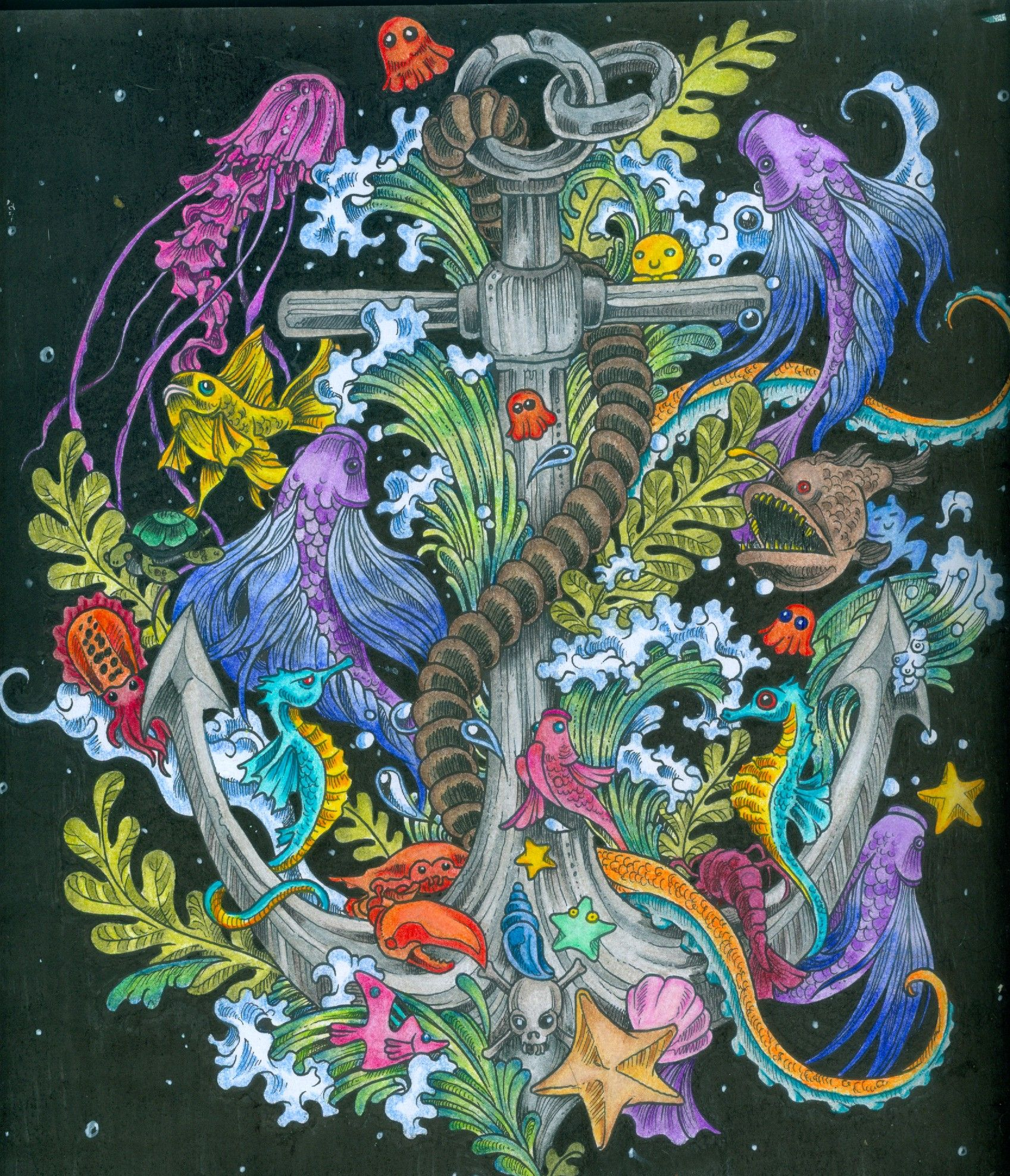 From Kerby Rosanes Imagimorphia Coloring Book Art Enchanted Forest Coloring Book Coloring Books