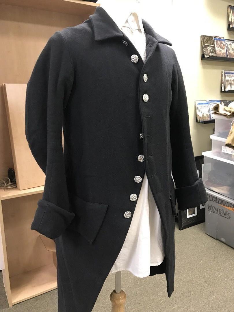 Black Wool Revolutionary War Era Early 18th Century Frock Coat Sz 42 Chest 1913083179 Black Wool Coat Revolutionary War [ 1080 x 810 Pixel ]