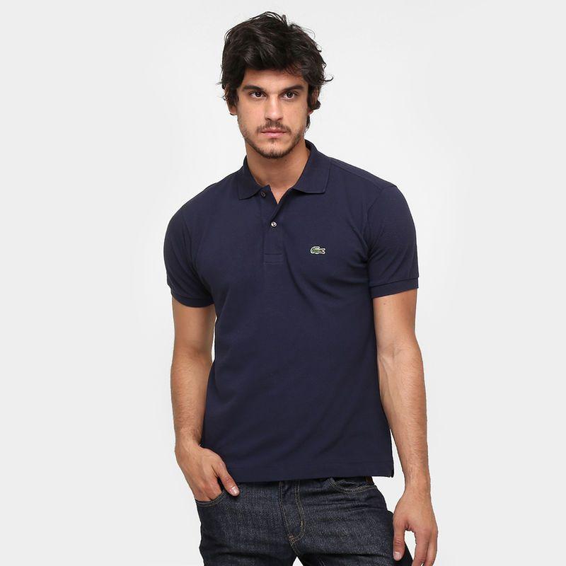 f62838b84f Camisa Polo Lacoste Original Fit Masculina - Marinho