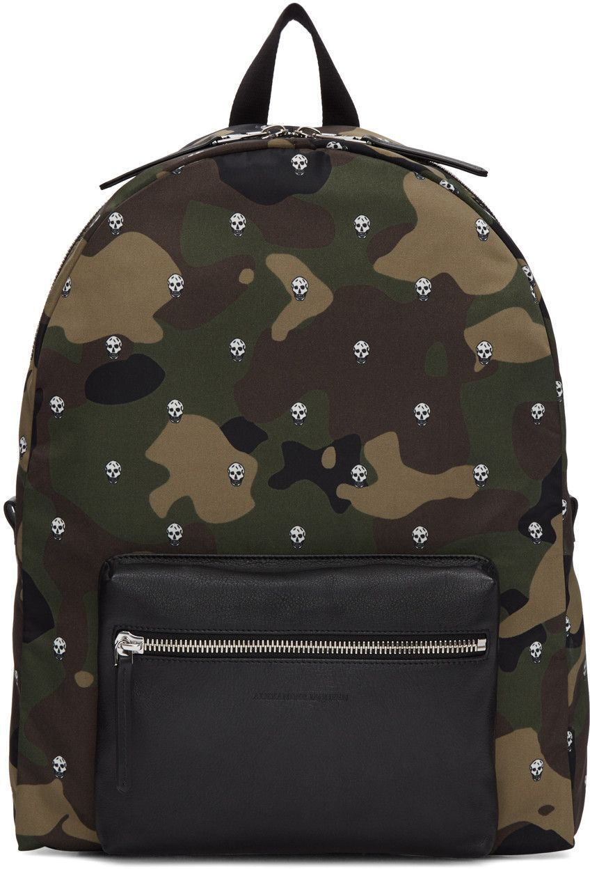 skull and camouflage backpack - Green Alexander McQueen Free Shipping Countdown Package Discount Excellent Stockist Online For Sale Official Site CSRsHDWN