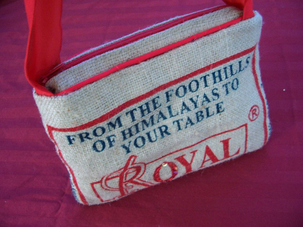 Recycled rice bag purse - Rice Bags