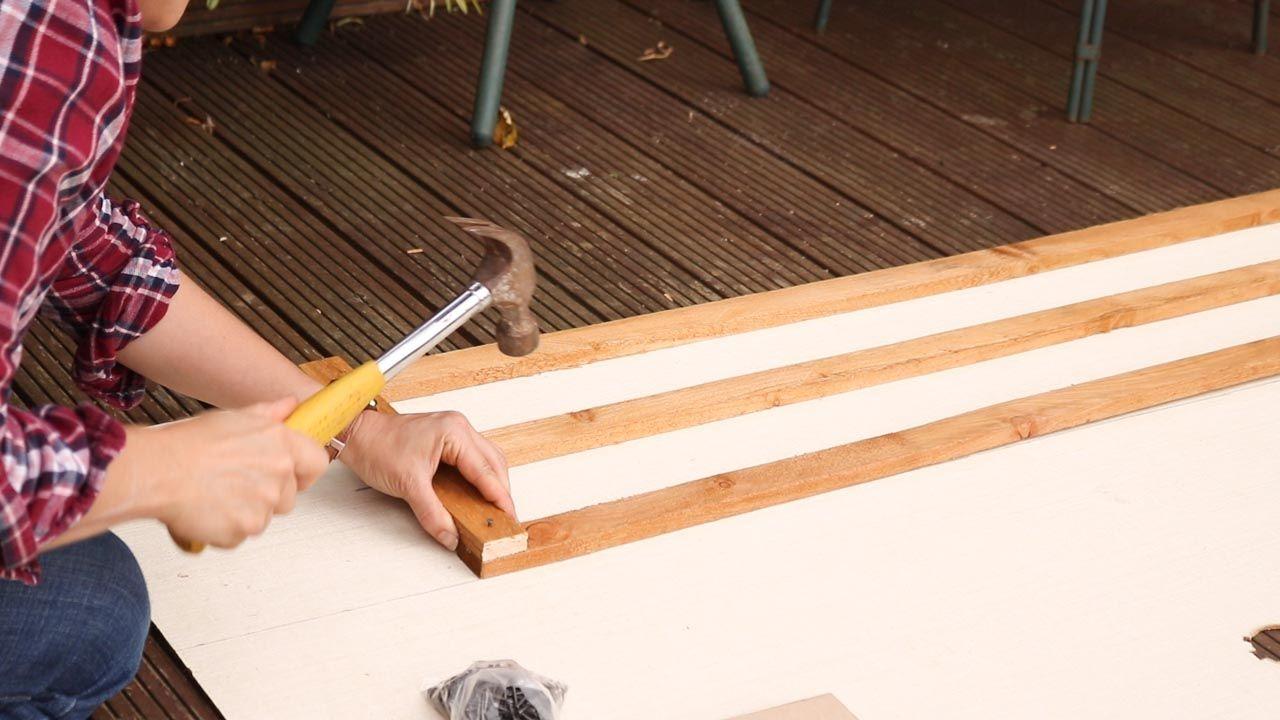 How to Make & Hang Wooden Trellis Wooden trellis, Wooden