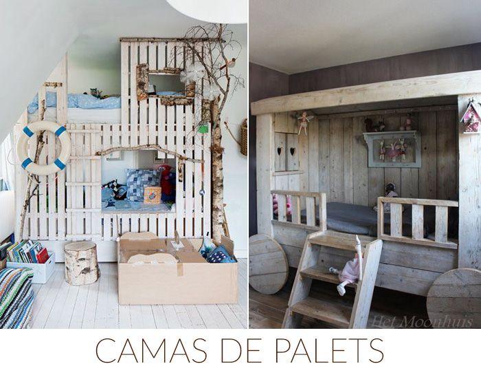 Ideas decoracion palets camas deco kids pinterest - Camas de madera antiguas ...
