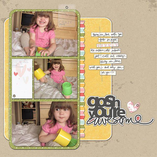 Scrapbook Page Designs Using Three Photos | Sahlin Studio | Digital Scrapbooking Designs