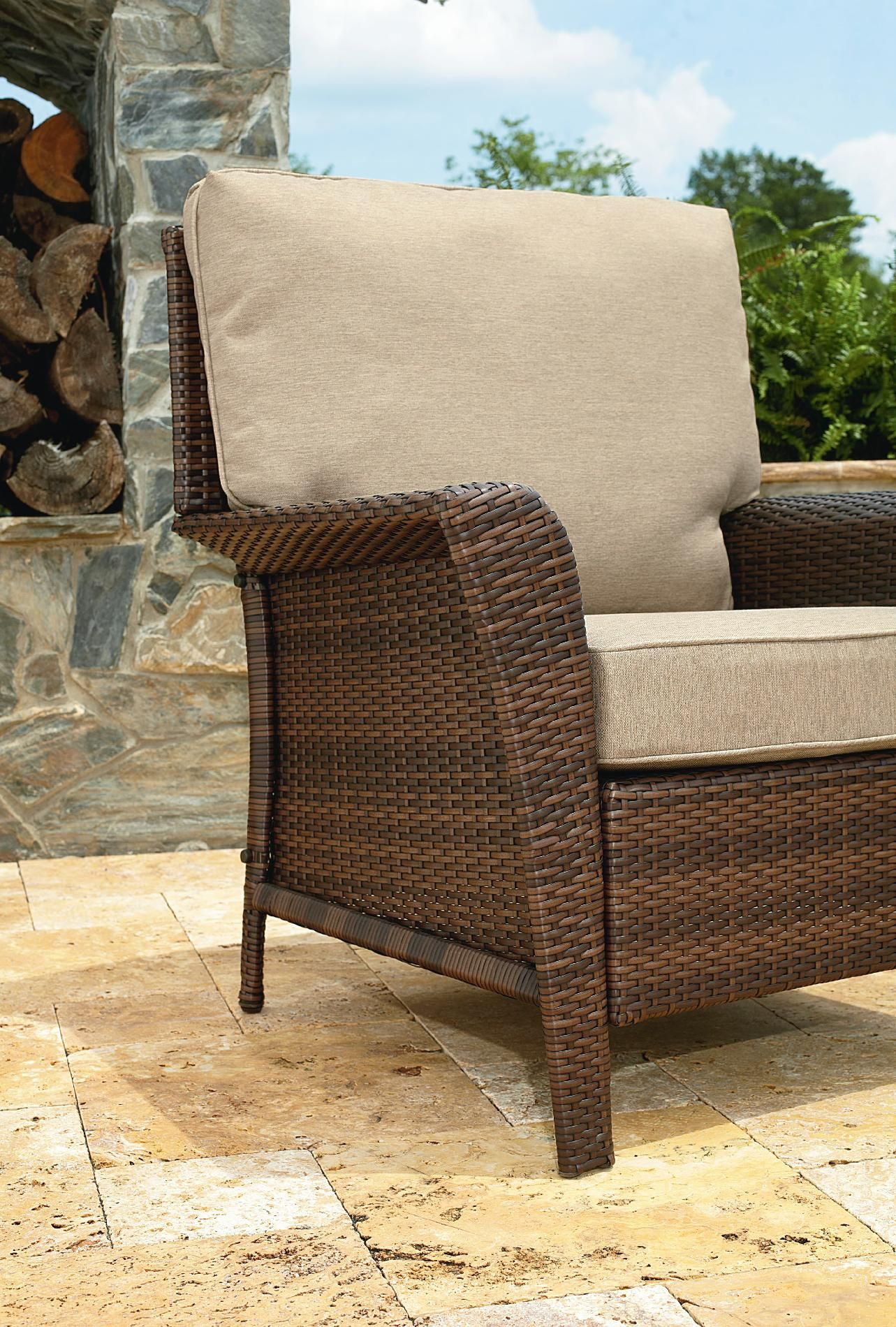 Ty Pennington Style Parkside Lounge Chair Outdoor Living Patio Furniture Chairs Recliners Lounge Chair