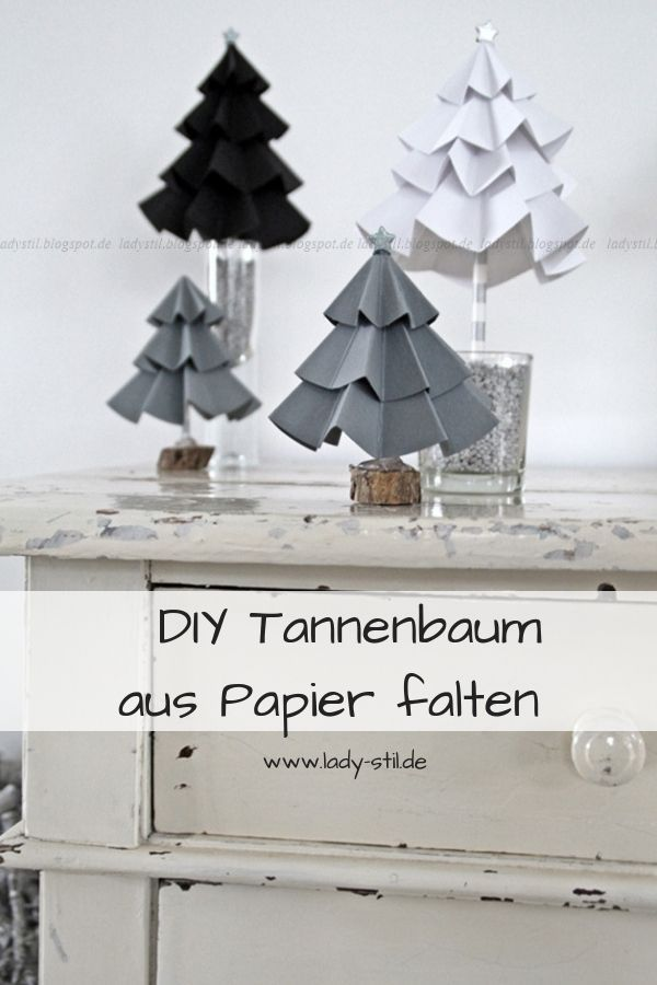 diy tannenbaum aus pappe basteln selbermachen christmas decorations to make christmas diy