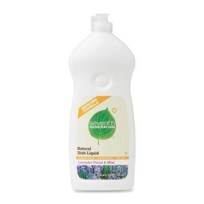 Seventh Generation Dishwashing Liquid, Natural, 25 oz., Lav/Mint (Set of 2)