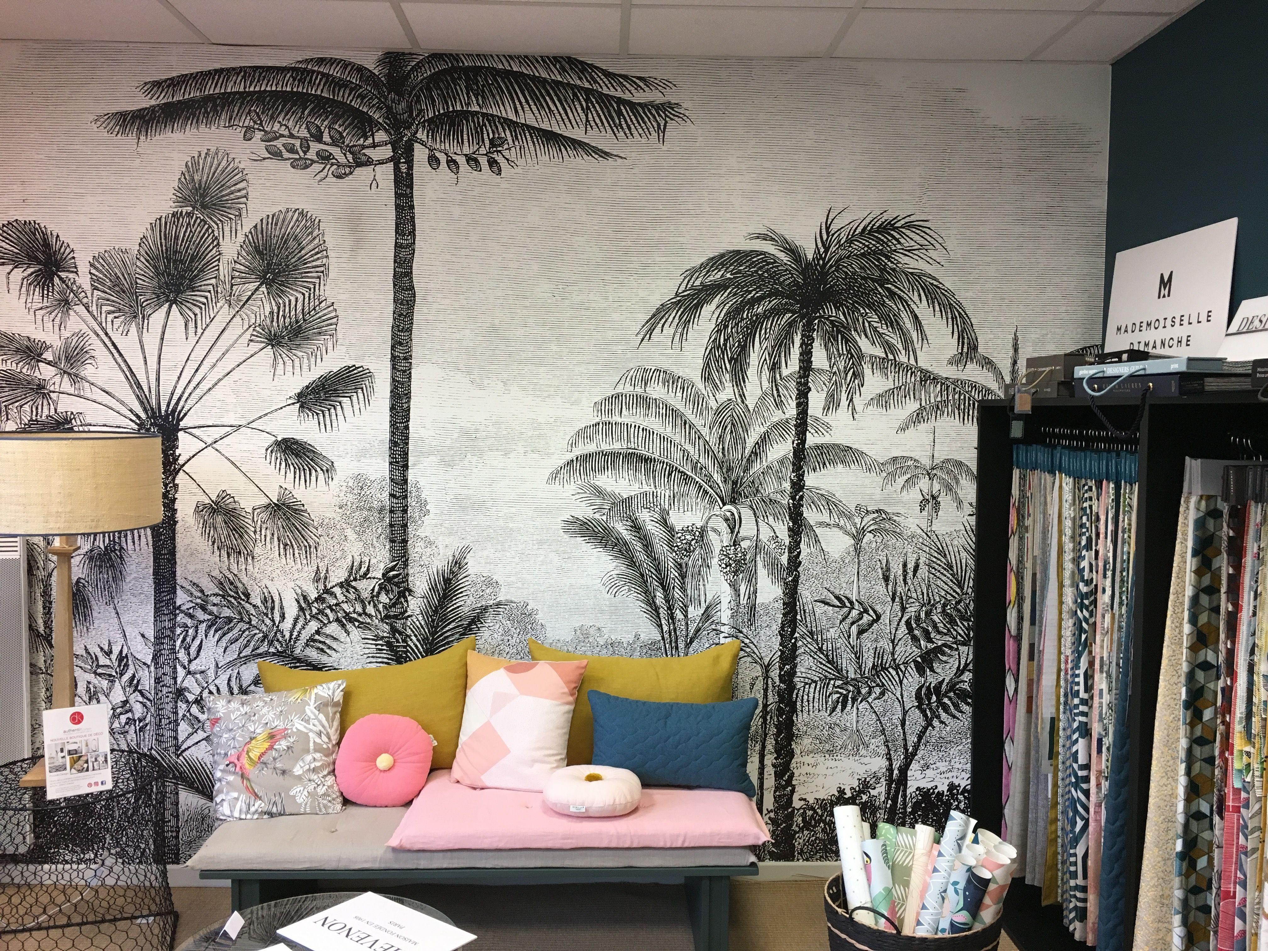 Maison Popeline #panoramique Lé Papiers de Ninon ALADIN   Papier peint, Déco salon, Papier peint ...