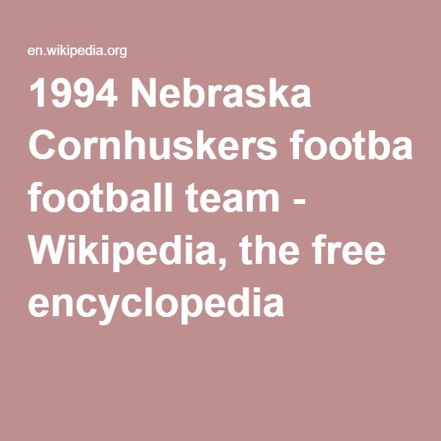 e9085df92 1994 Nebraska Cornhuskers football team - Wikipedia