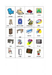 Good English Worksheet: In The House   Furniture And More 2