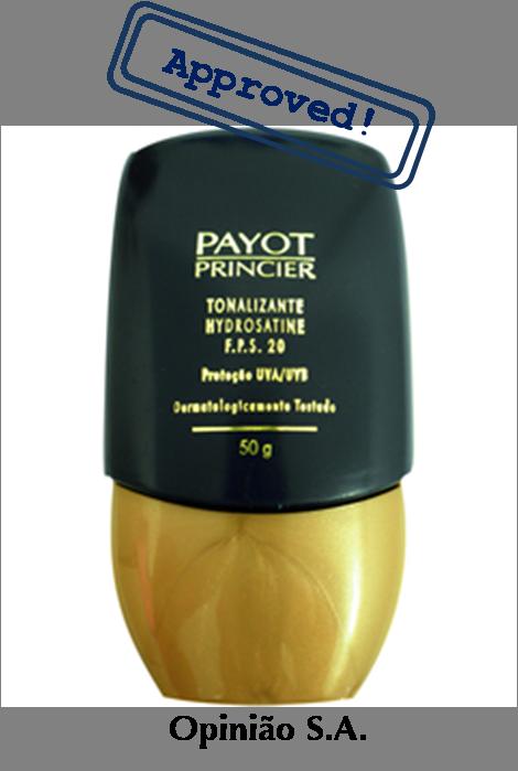 Payot – Tonalizante Hydrosatine FPS 20  http://www.opiniaosa.com.br/2012/05/04/payot-tonalizante-hydrosatine-fps-20/