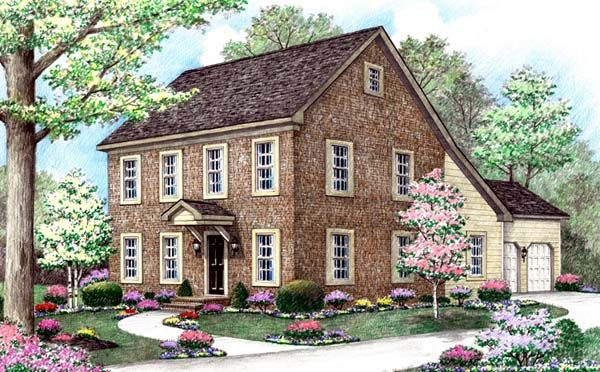 Farmhouse Saltbox House Plan 64402 Cars Dark and House plans