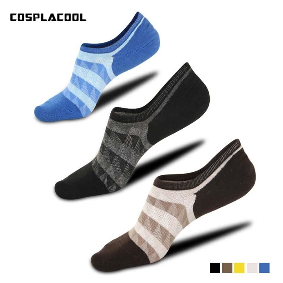 9bbd59688d45 Spring Summer Calcetines Hombre Casual Striped Net Mesh Breathable Mens Sox  Low Cut Ankle Socks Non-Slip Invisible No Show Socks.