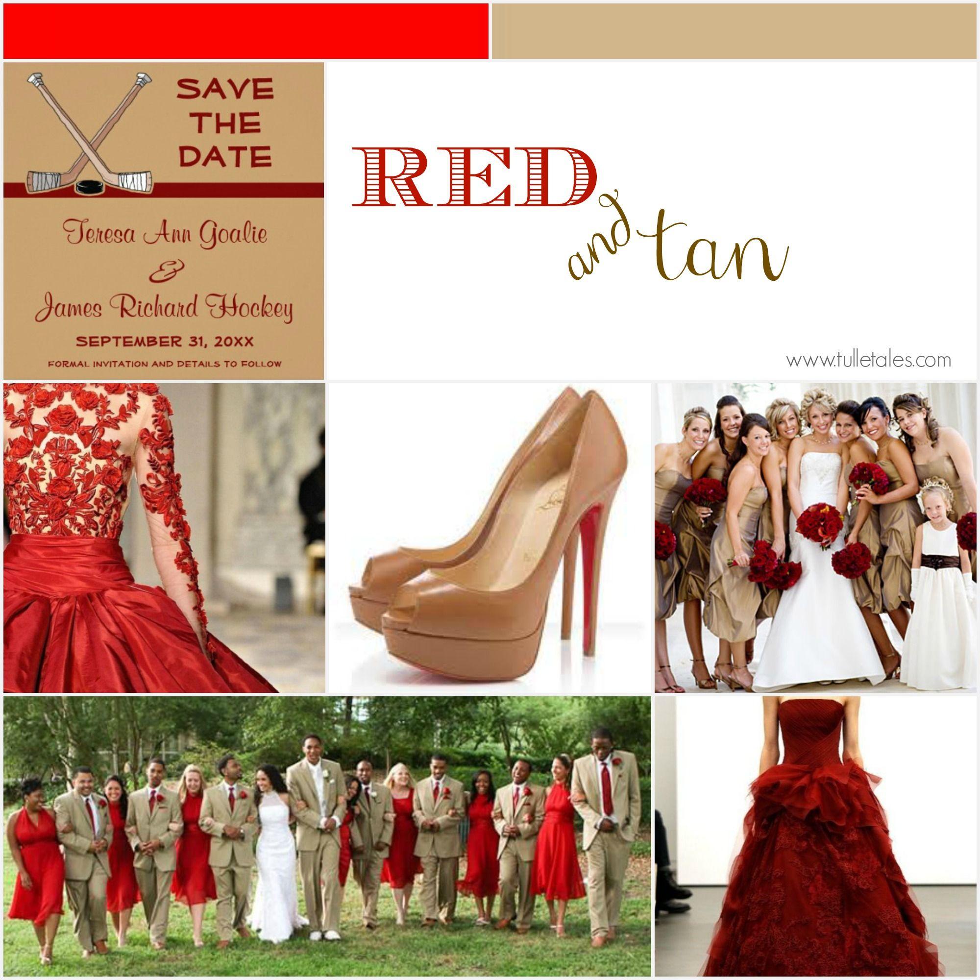 color picks red tan wedding wedding color inspiration