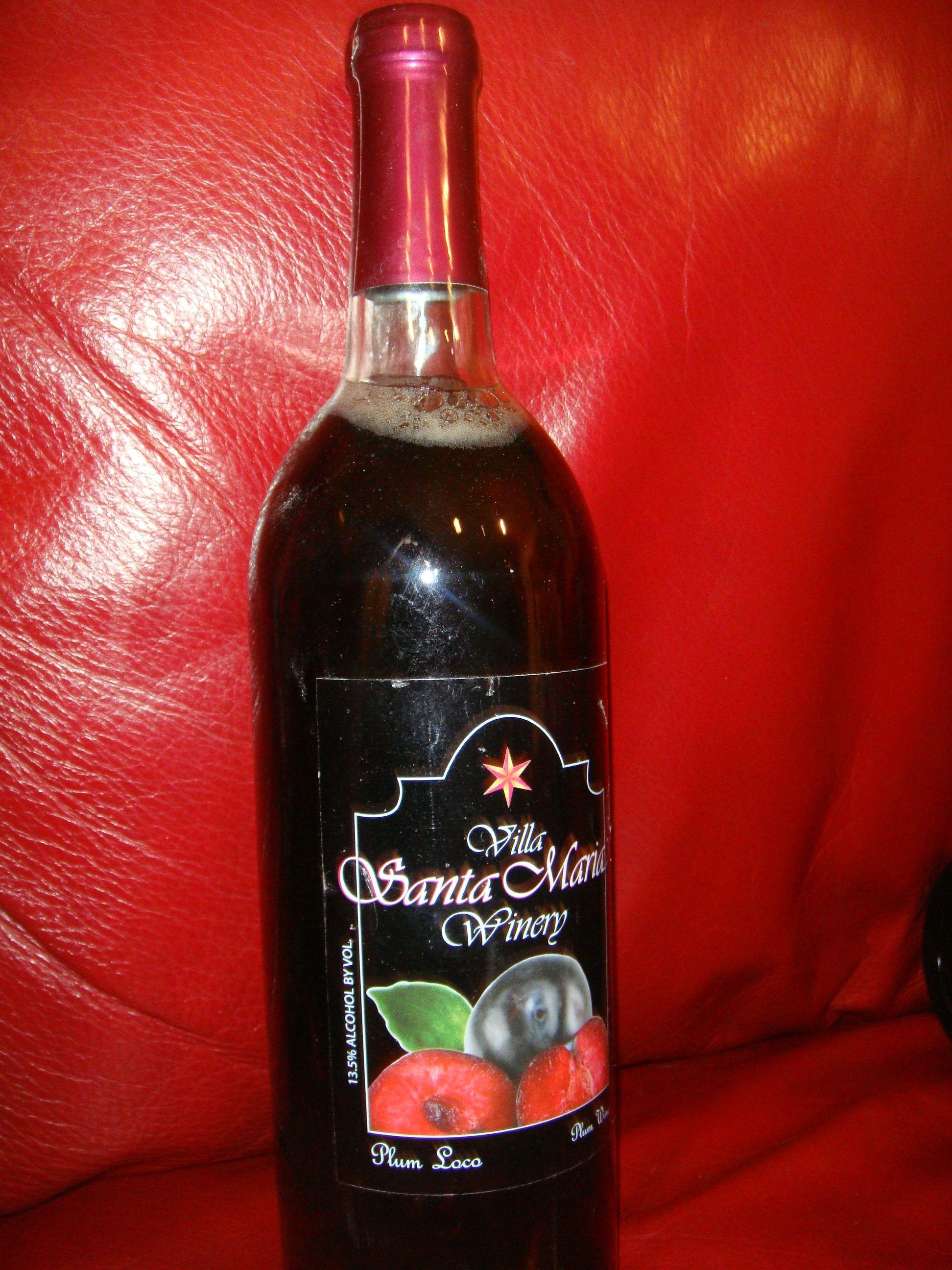 Plum Loco Plum Wine By Villa Santa Maria Winery Plum Wine Wine Bottle Distillery
