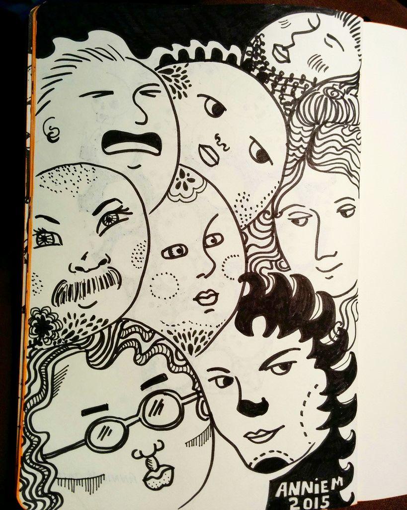 November faces, day 6. | Doodles and November
