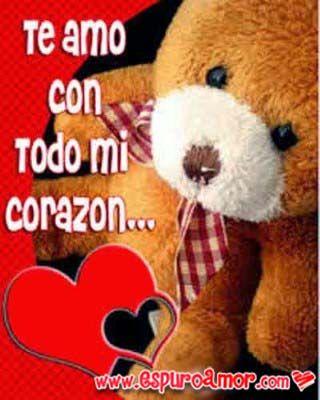 Imagenes De Amor Con Frase Te Amo Y Ositos Tiernos Frases Pinterest